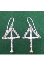 BOUQUET EARRINGS IN SILVER LIONS