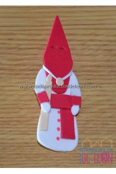 Papón Leonés blanco y rojo