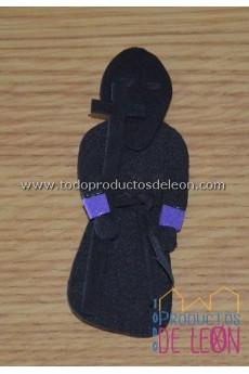 Papón Leonés preto e roxo