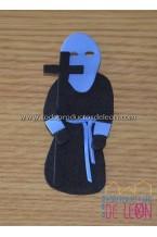 Papón Leonés preto e azul