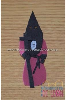 Papón Leonés burdeos y negro
